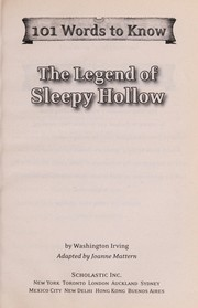 101 Words to Know: The Legend of sleepy hollow.